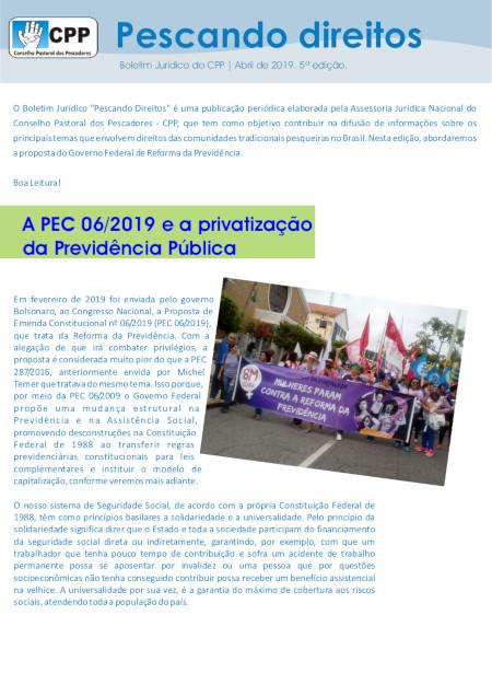 Capa - Pescando Direitos 5 edição - abril 2019