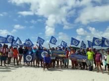 Manifestação de pescadores contra dragagem em Suape